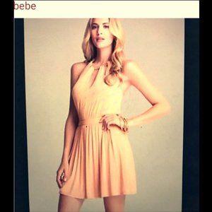 Bebe  Triple Keyhole Neck EMB Dress XS